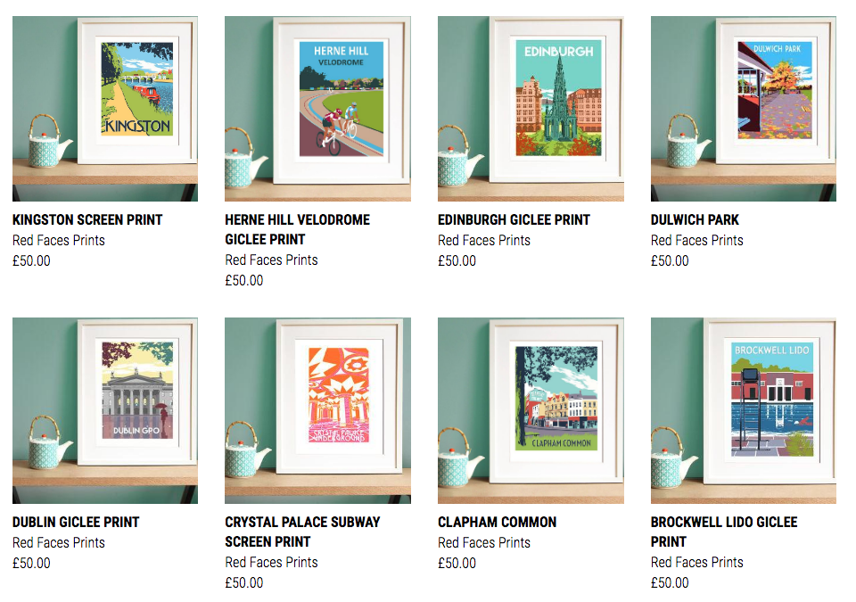 Bright Location Prints