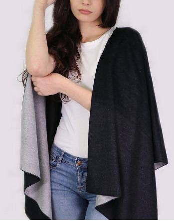 Monochrome Black & Grey Reversible Cape