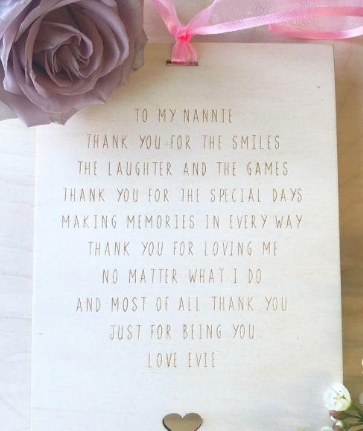 Thank You Grandparent Personalised Plaque